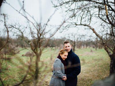 Im Norden Berlins: Verliebte Paarfotos unter Apfelbäumen