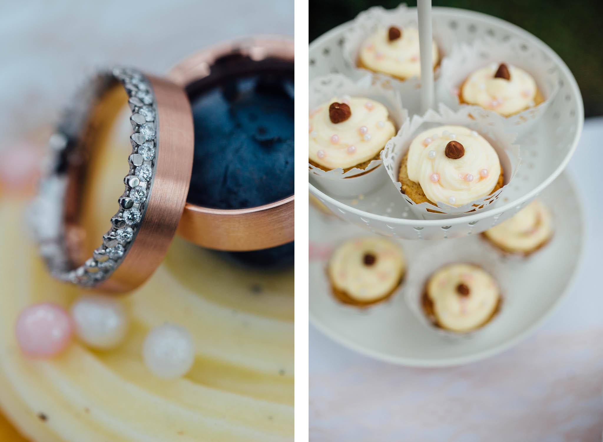 hochzeit-ringe-fotos-cupcakes
